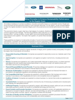 Automotive Industry Guiding Principles to Enhance Sustainability Performance in the Supply Chain
