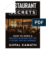 Restaurant Secrets eBook