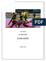 Report- Increasing Popularity of Kabaddi in India
