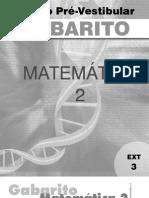 Matemática - Pré-Vestibular Dom Bosco - GAB-MAT2-ex3