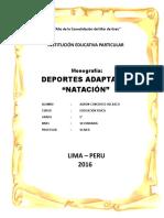Monografia La Natacion