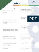 Matemática - Pré-Vestibular Dom Bosco - Super Revisão I - Exercícios de Aprofundamento