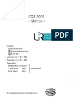 COE 2001 Statics - Lecture 0 - Reminders