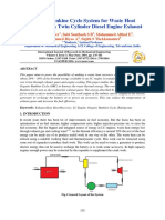 Organic Rankine Cycle System for Waste Heat Recovery From Twin Cylinder Diesel Engine Exhaust