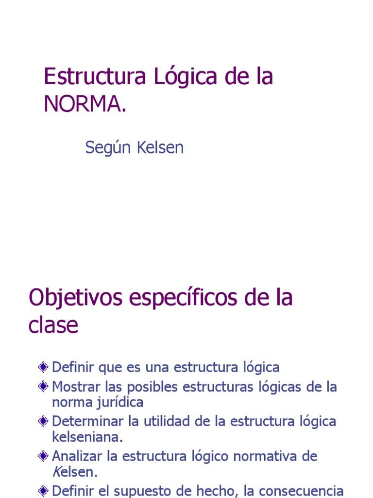 Estructura Lógica De La Norma Lógica Consecuencia Lógica