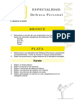 Especialidad defensa personal