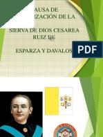 Causa de Canonización de La Sierva de Dios Cesárea Ruiz de Esparza y Davalos