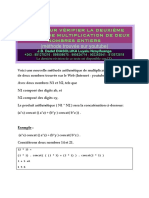 Simulateur Logiciel de Multiplication de deux Nombres entiers (Comment Multiplier Deux Nombres)