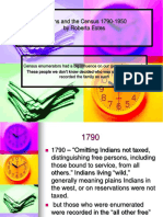 Indians and the Census 1790-1970