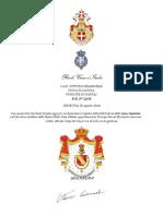Registro Guerrera Di Cela Casa Reale d'Italia