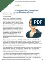 ConJur - Entrevista_ Débora Diniz, Fundadora Da Anis — Instituto de Bioética