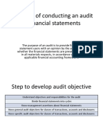 Objective of Conducting an Audit of Financial Statements AUDIT