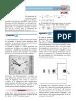 Exercícios comentados de Física - UNICAMP