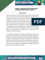 381292407 Evidencia 3 Informe Definiendo y Desarrollando Habilidades Para Una Comunicacion Asertiva y Eficaz