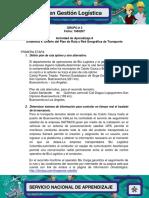 Evidencia 8.4 Diseño Del Plan de Ruta y Red Geográfica de Transporte