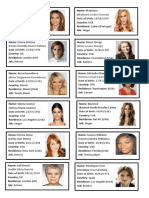 Celebrities Cards Women Games