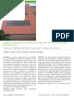Sistemas de Elementos de Protección Solar Para Edificios en Cuba