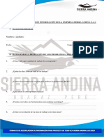 Encuesta Sierra Andina