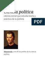 Ciencia Política - Wikipedia, La Enciclopedia Libre