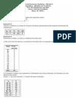 lista de exercicios de estatística - Módulo 2 - Ciências Contábeis.pdf