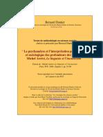 Arrivé, Michel (2008) - La Psychanalyse Et l'Interprétation Psychologique Et Sociologique Des Profondeurs Des Discours