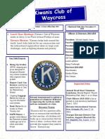 Kiwanis Club of Waycross Newsletter, May/June 2019