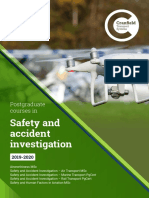 Safety and Accident Investigation Postgraduate Courses Brochure