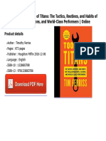 Tools of Titans the Tactics Routines and