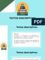 Textos descriptivos Presentacion