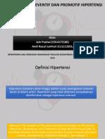 Penanganan Preventif Dan Promotif Hipertensi