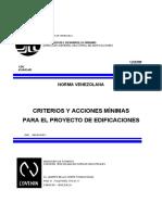 03.14 COVENIN 2002-1988 (Acciones Minimas) C-VI Cargas Accidentales, Reológicas, Térmicas y Extraordinarias.pdf