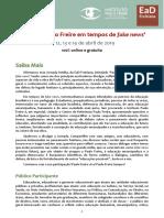 Paulo Freire Em Tempos de Fake News