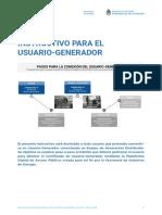 Instructivo Para El Usuario-generador
