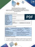 Guía de Actividades y Rúbrica de Evaluación - Tarea 4- Utilizar Recursos Software Simulador Para Dar Solución de La Actividad Práctica