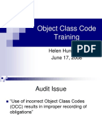 object class code training