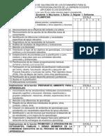 Ficha Para La Evaluacion Del Desempeño