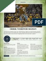 Aos Warscroll Orruk Weirdnob Shaman It