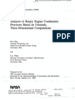 Analysis of Rotary Engine Combustion Processes Based On Unsteady Three-Dimensional Computations