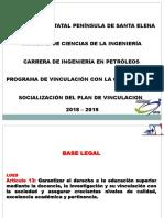 Socializar Plan de Vinculacion 2018-2019