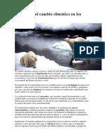 Impactos Del Cambio Climático en Los Animales