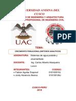 SISTEMAS DE AGUA POTABLE-METODOS ANALITICOS