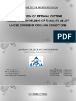 Prediction of Optimal Cutting Conditions in Milling of Ti-6al-4v Alloy Under Different Cooling Conditions