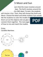 Solar System Earths Orbit and Moons Orbit