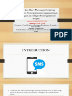 Impact Des Short Messages Servicing (SMS)