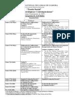 UNLZ 2019 - 1º - Teoría Social - Teorías Soc Cont - Cronograma de Act - 2º Parte - Lunes