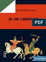 El Cid Campeador - Ramon Menendez Pidal (1).pdf