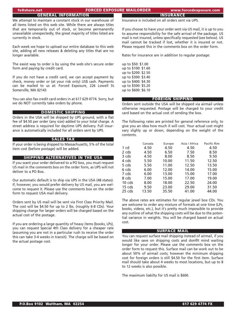 forcedexposurecatalogue pdf   United States Postal Service   Mail