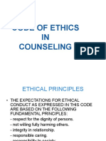 Topic 7 the Importance of Code of Ethics in Counselling Profession