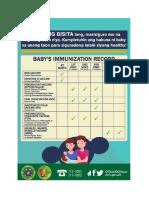 Basic Immunization schedule and HIV