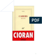 Cahiers de Cioran